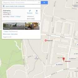 Įmonės adreso (-ų) vaizdavimo Google Maps žemėlapyje sukūrimas